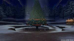 光のオーナメント5個、星の大樹