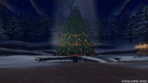 光のオーナメント10個、星の大樹