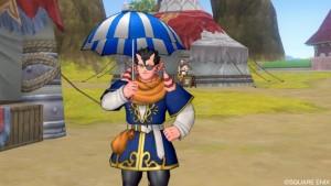 遅くなりましたが青と白のローソン傘を。
