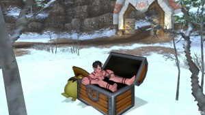 オーガ♂しぐさ宝箱画像。完全に風呂。3