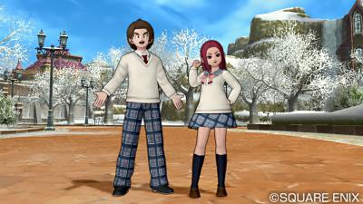 アスフェルド学園冬バージョンの制服