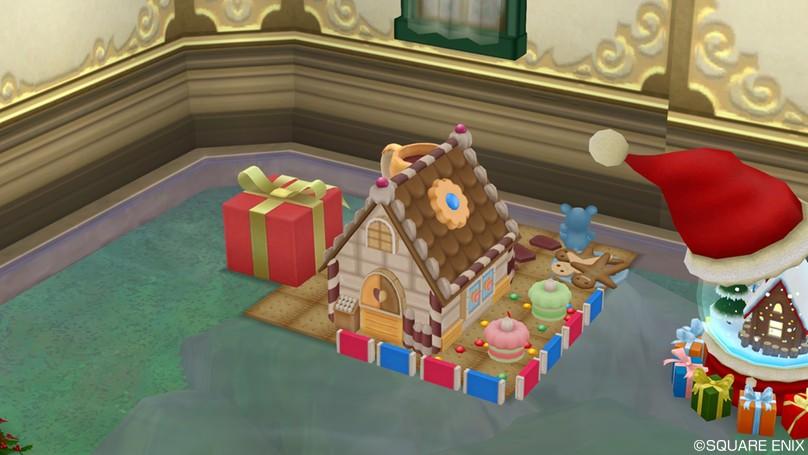 2017年新作クリスマス家具お菓子の家セット1