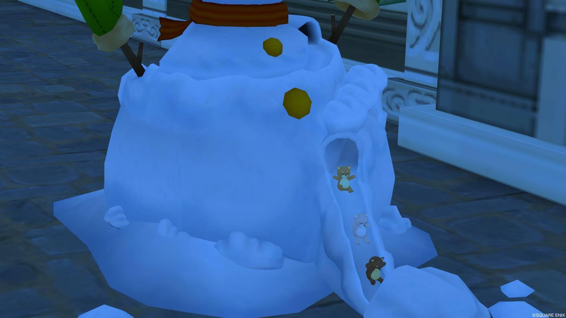 雪だるまスライダーくまさん